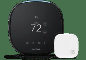 Ecobee thermostat with sensor