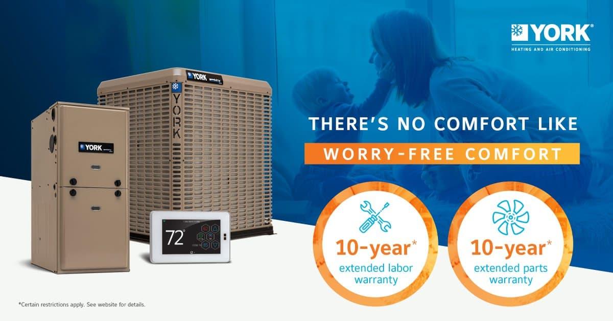 10 Year Warranty on a new York AC system